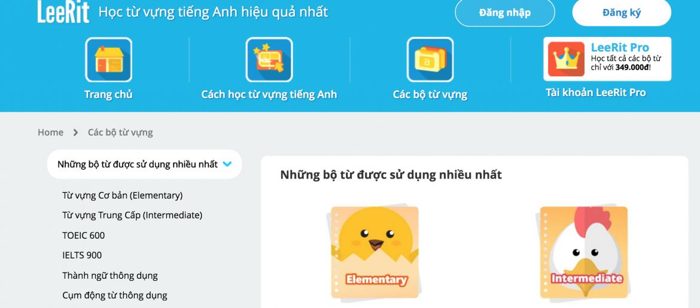 Trang web học từ vựng Tiếng anh mỗi ngày