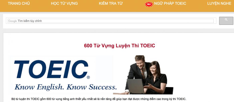 Trang web học từ vựng Toeic mỗi ngày