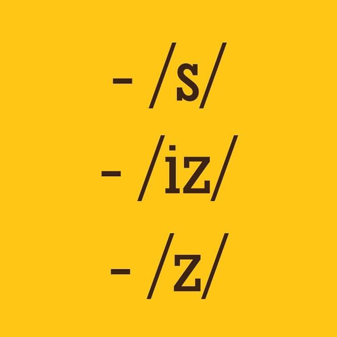 Phân biệt cách phát âm /s/, /iz/ and /z/