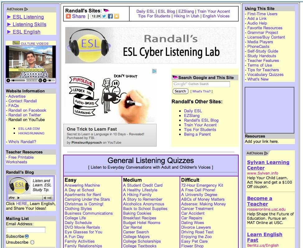 Các web phát âm tiếng Anh