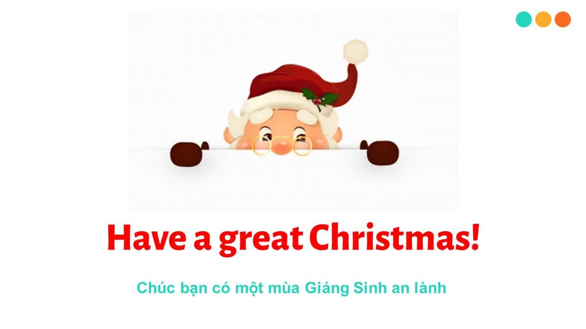 Từ vựng tiếng Anh về Giáng Sinh
