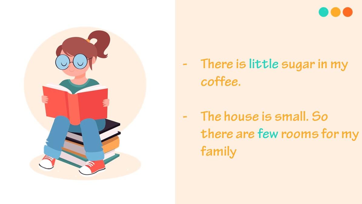 Ví dụ về lượng từ trong tiếng Anh
