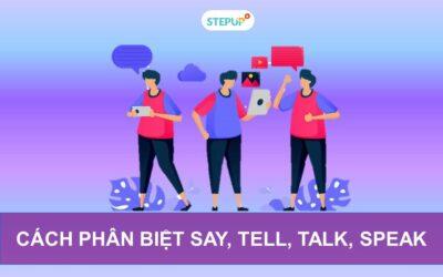 Bí quyết phân biệt say tell talk speak trong tiếng Anh