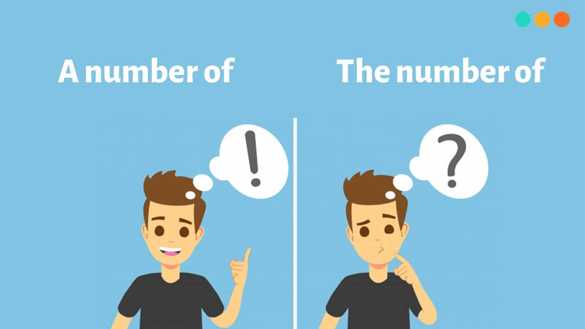 A number of và the number of