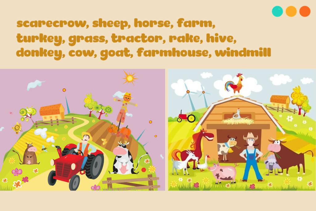Từ vựng tiếng Anh về nông trại và chăn nuôi gia súc