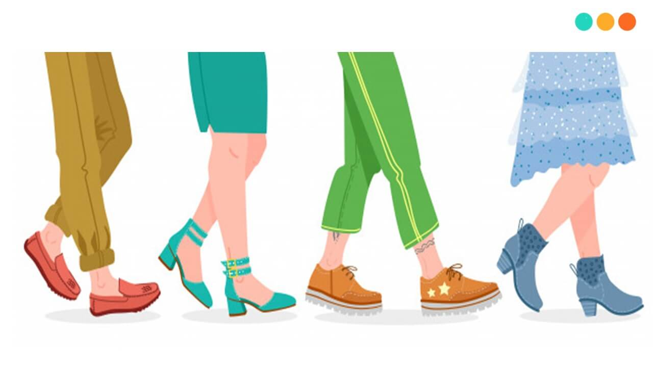 Từ vựng miêu tả giày dép trong tiếng Anh nói chung