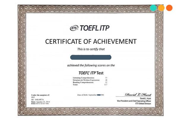 Chứng chỉ tiếng Anh TOEFL