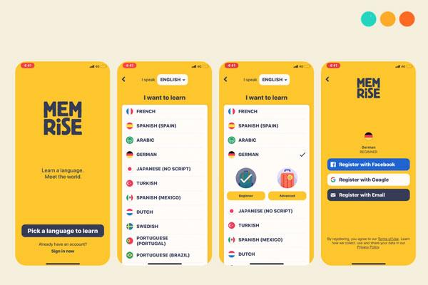 App tiếng Anh Memrise