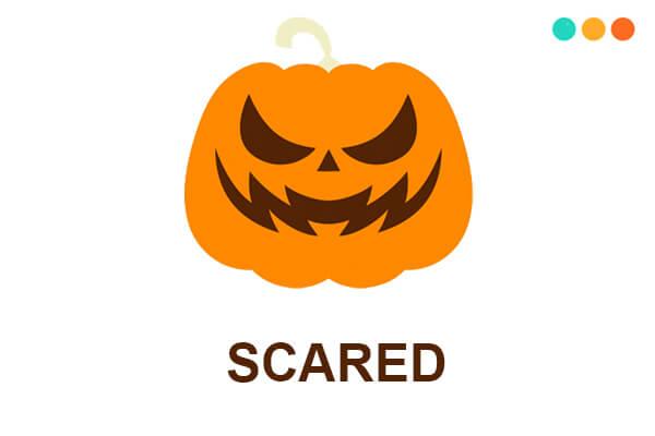scared và scary