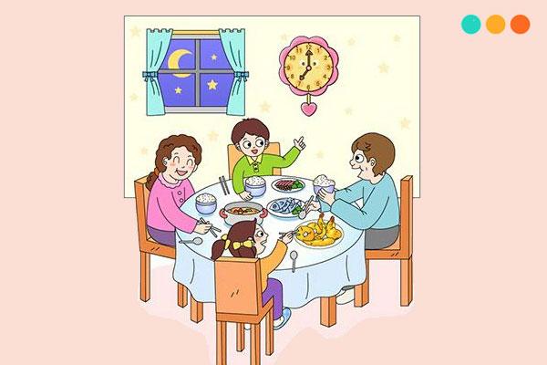 Viết về bữa ăn của gia đình bằng tiếng Anh