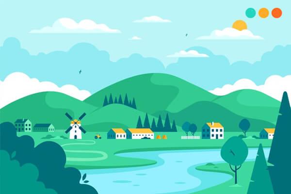 viết về cuộc sống ở nông thôn bằng tiếng Anh