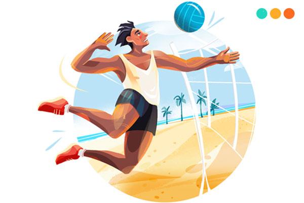 viết về môn thể thao bóng chuyền bằng tiếng Anh