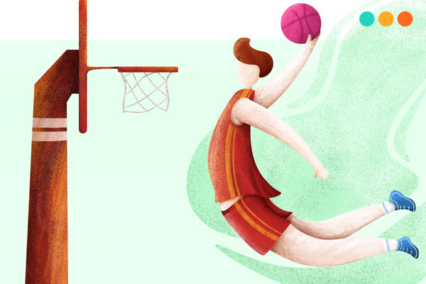 Đoạn văn viết về môn thể thao bóng rổ bằng tiếng Anh