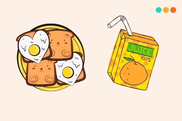 viết về bữa sáng bằng tiếng anh