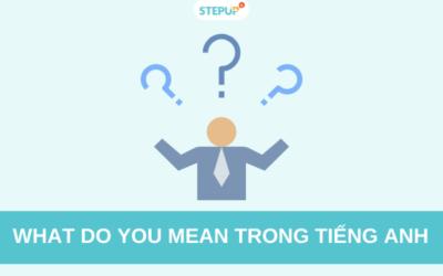 What do you mean: Định nghĩa, cách sử dụng và các cụm từ